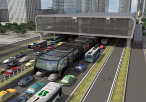 Traffic Straddling Bus