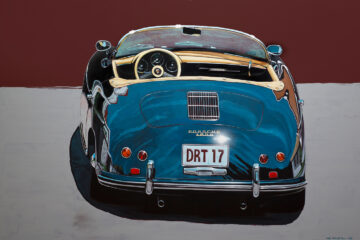 Porsche 1600 rear view painting