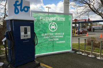 FLO electric vehicle charging station