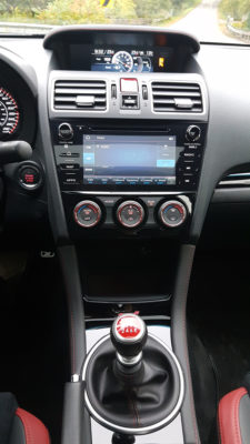 2019 Subaru WRX STI dash