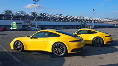 New Porsche 911 trackside at Hockenheimring