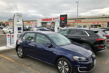 Canadian Tire EV charging station