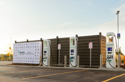 Electrify Canada charging stations