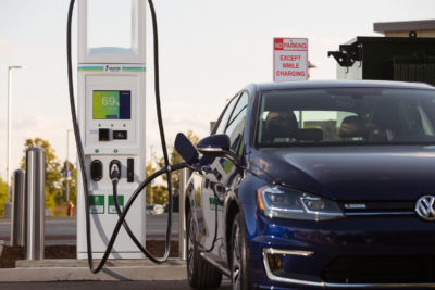 Charging the 2020 Volkswagen e-Golf