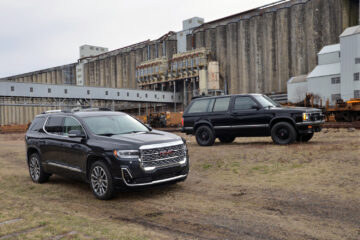 2020 GMC Acadia and 1991 GMC Jimmy