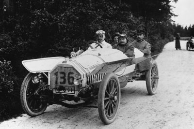 August Horch behind the wheel