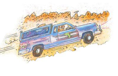 Driving the Sierra Desert