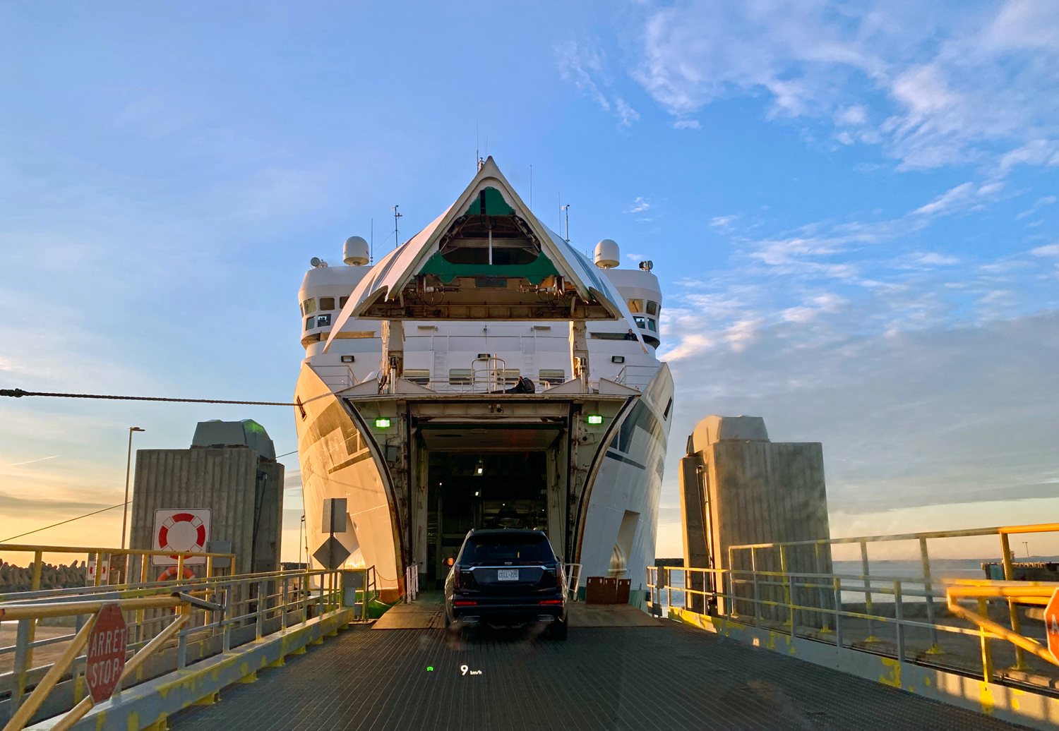 Loading on the ferry