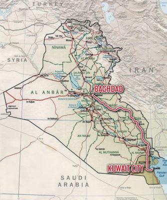 Iraq to Kuwait City