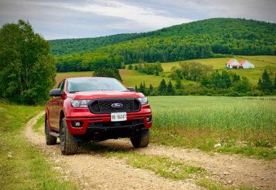 2020 Ford Rangers climbing Mount Carleton