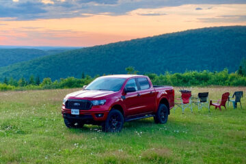 2020 Ford Rangers on Mount Carleton
