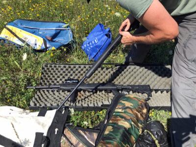 two big rifles