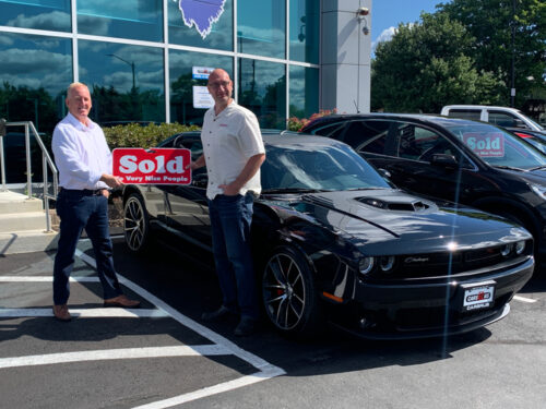 Taking delivery of the Challenger