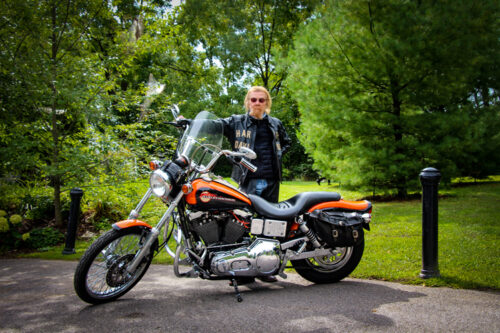 Dad and his classic Harley-Davidson