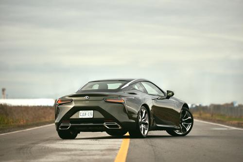 2021-Lexus-LC500-Rear-Three-Quarter