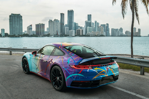 2021 Porsche 911 Carrera by artist Rich B. Caliente