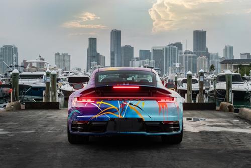2021 Porsche 911 Carrera by artist Rich B. Caliente-2